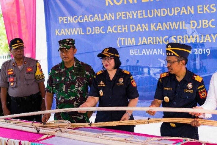 Bea Cukai Sumut, Aceh dan Kepri gagalkan penyelundupan 40 ton rotan
