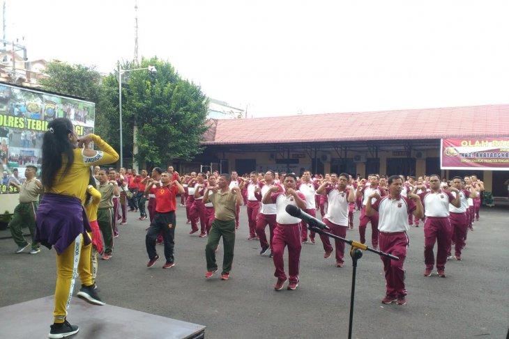 Jalin sinergitas Kodim 0204/DS gelar olahraga bersama Polres Tebing Tinggi