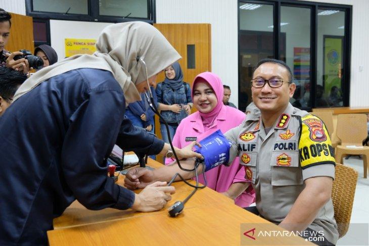500 personel Polresta Tangerang ikuti donor darah