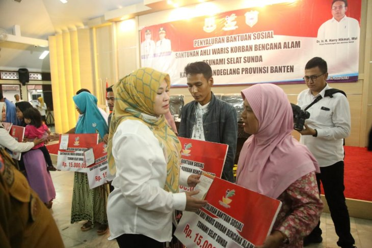 Kemensos serahkan santunan pada ahli waris korban tsunami di Pandeglang