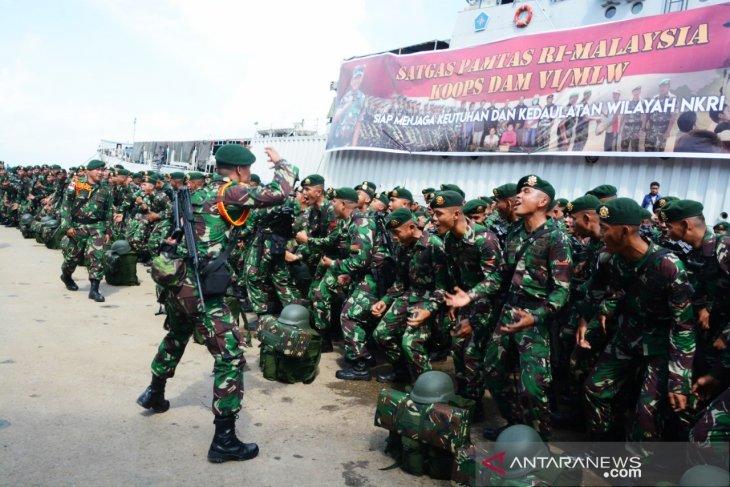 Satgas Pamtas RI-Malaysia tiba di Mahulu
