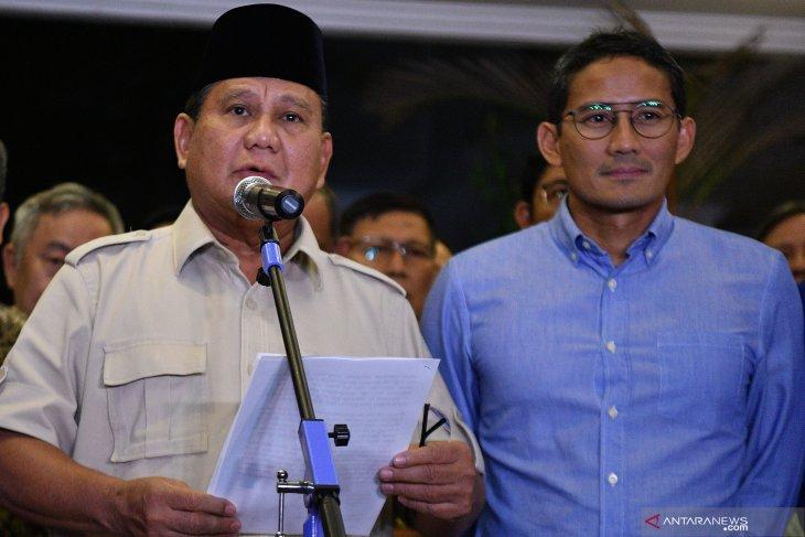 Sikap Prabowo-Sandi terima hasil putusan MK dapat apresiasi