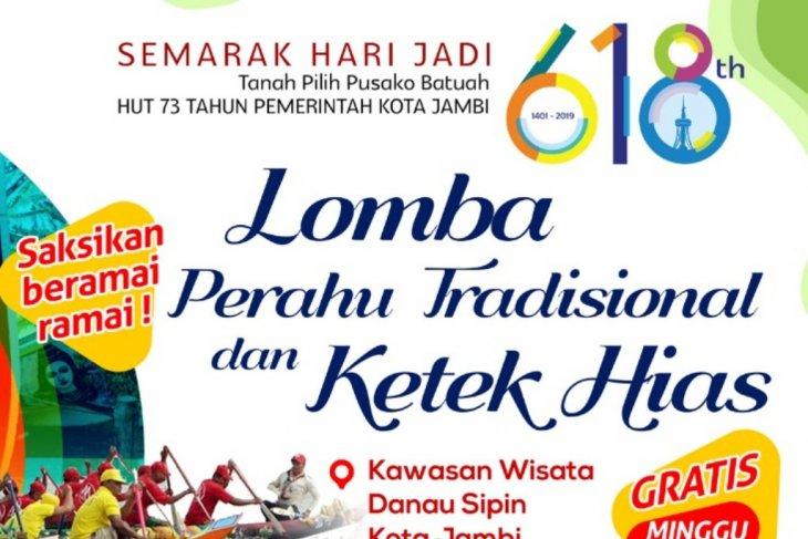 Minggu (30/6), lomba pacu perahu  meriahkan wisata Danau Sipin