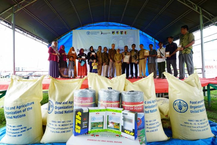 FAO disburses aid to farming, fishing households in Central Sulawesi