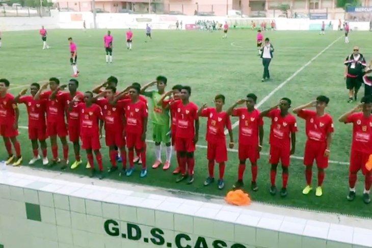 Timnas Pelajar U-15 ke delapan besar setelah kalahkan tim asal Portugal