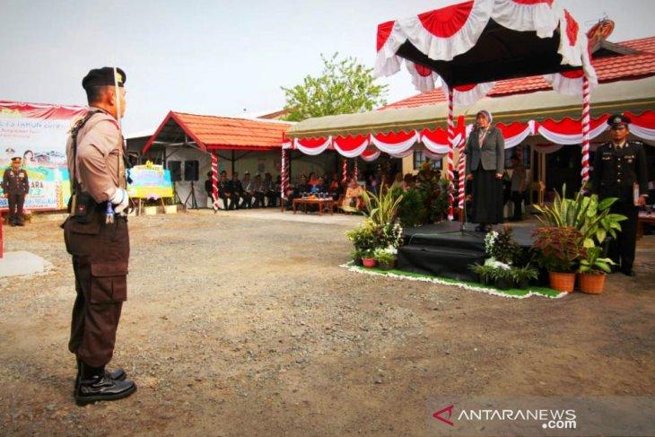Bupati  pimpin upacara HUT  ke-73 Bhayangkara