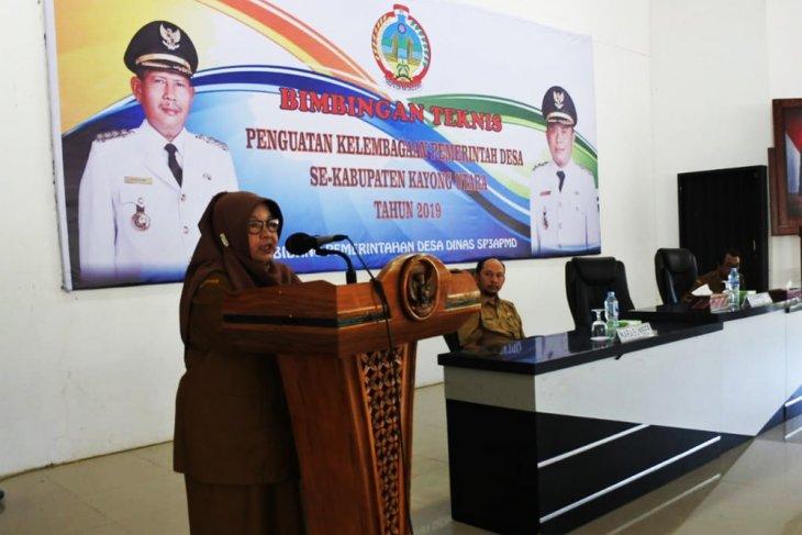Bimtek penguatan kelembagaan pemerintah desa se Kabupaten Kayong Utara tahun 2019