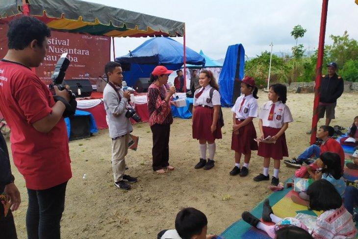 Dinas Perpustakaan Samosir sosialisasi gemar membaca di Literasi Nusantara