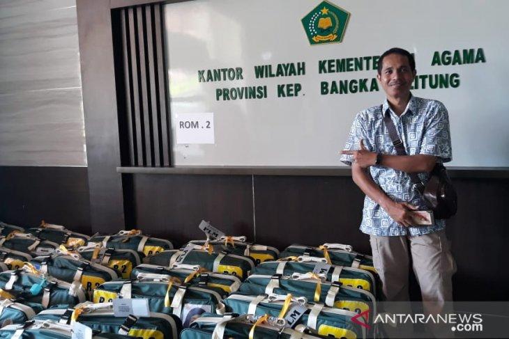 Pemeriksaan barang JCH Kabupaten Bangka melalui Kanwil Kemenag Babel