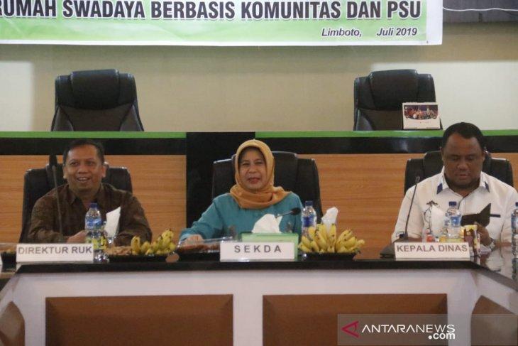 Pemkab Gorontalo-Kementerian PUPR bahas pembangunan swadaya berbasis Komunitas