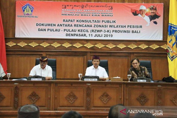 Sekda Bali ingin segera rampungkan dokumen rencana zonasi pesisir