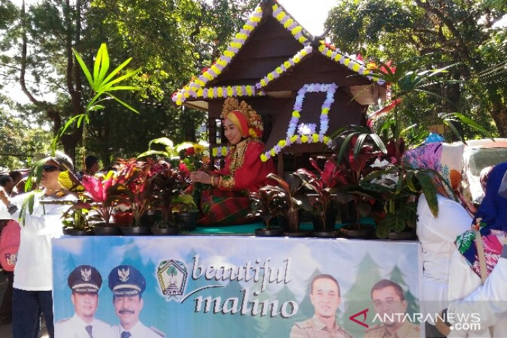Foreign students participate in Beautiful Malino flower parade