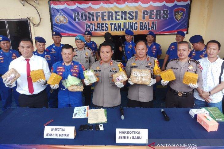 Satpolair Polres Tanjungbalai gagalkan penyelundupan sabu-ekstasi dari Malaysia