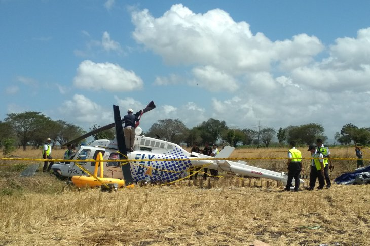 KNKT investigasi penyebab helikopter yang  jatuh di Lombok Tengah