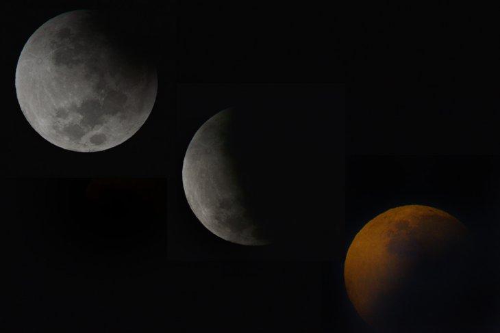Gerhana bulan sebagian terlihat dari Denpasar