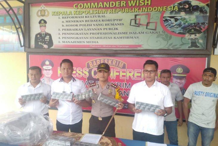 Polres Labuhanbatu amankan rokok tanpa cukai dari perbatasan Jambi-Riau