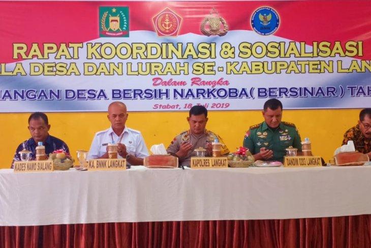 11.000 orang warga Kabupaten Langkat terpapar narkotika