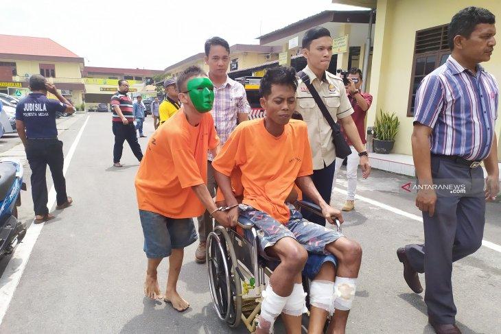 Polisi tembak komplotan pelaku 'Becak Hantu' di Medan
