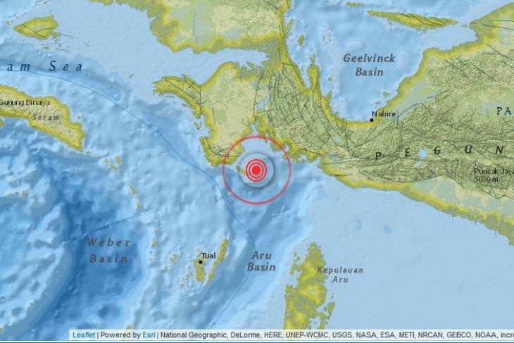 Gempa 4,3 SR guncangan kabupaten Kaimana  Papua Barat
