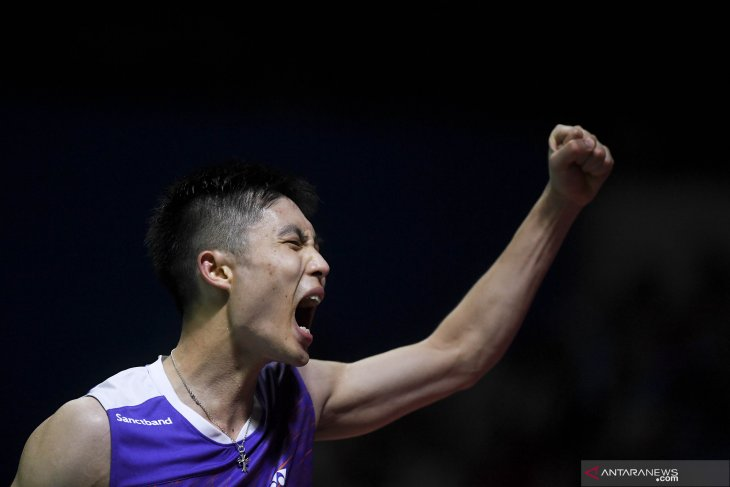 Taiwan's 4th-seeded shuttler wins men's singles at Indonesia Open