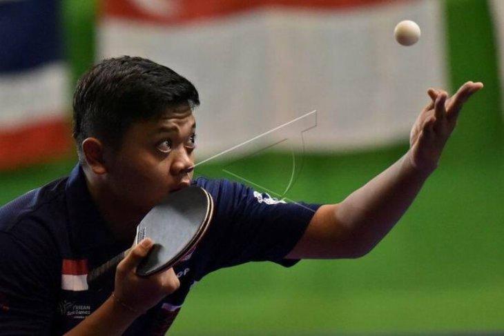 Tim tenis meja putra Indonesia menang