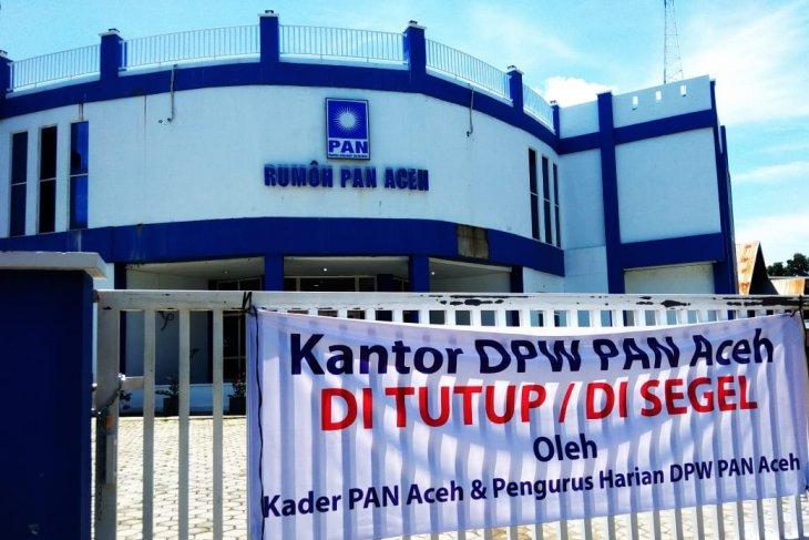 Kantor DPW PAN Aceh disegel  pengurus