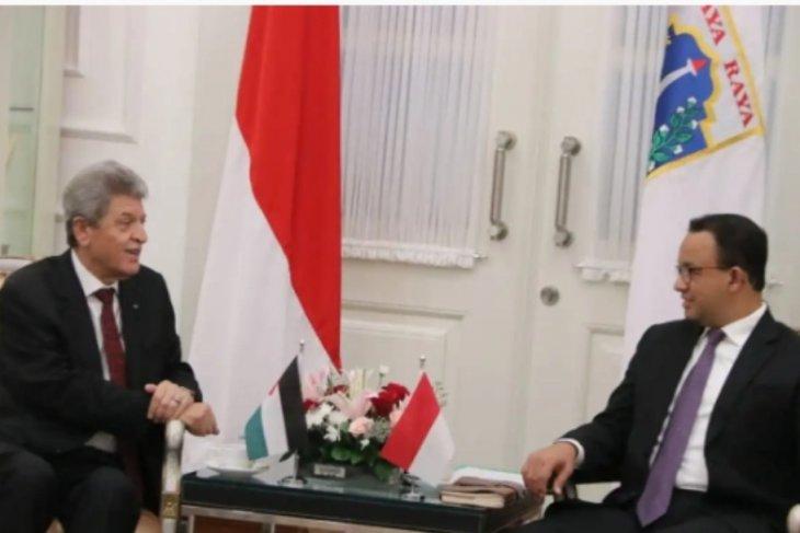 Anies Baswedan receives Palestinian Ambassador