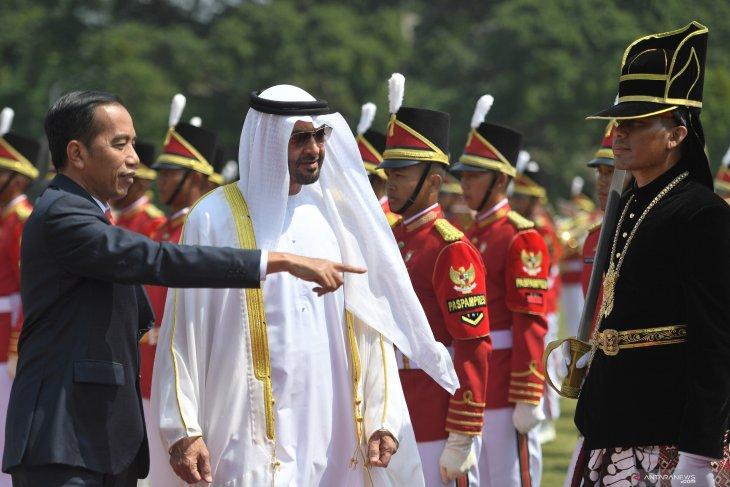 Pangeran Mohamed berkunjung ke Istana Bogor