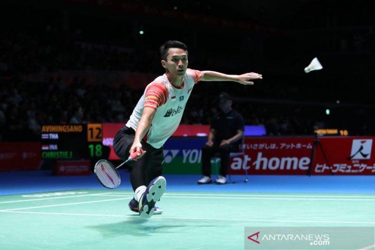 Tiga tunggal putra Indonesia lolos ke perempat final Japan Open