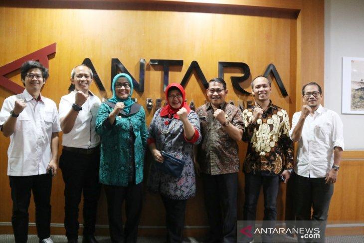 Bupati Bogor kunjungi Wisma LKBN Antara minta dibantu promosikan pariwisata