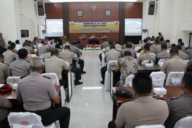 Polda Maluku Utara evaluasi kinerja personel
