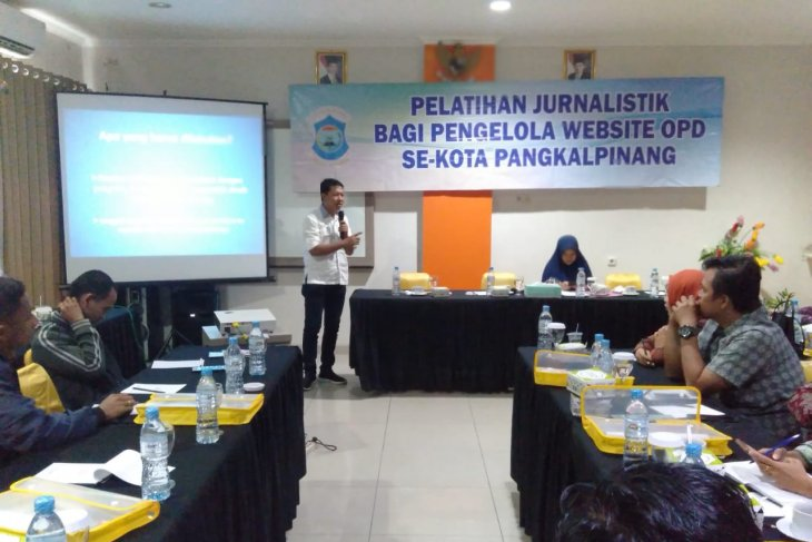 Diskominfo Pangkalpinang gelar pelatihan jurnalistik