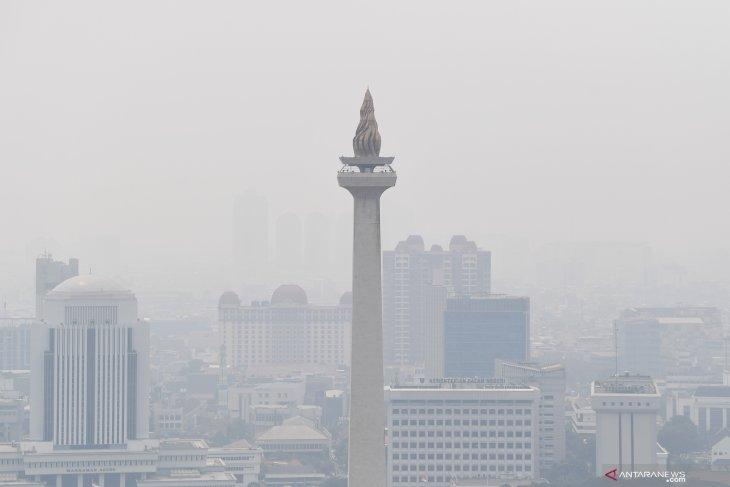AirVisual: kualitas udara Jakarta tidak sehat Minggu pagi
