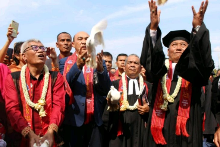 Bantu pembangunan Sopo Godang, TPL: Kado pesta jubileum 125 tahun HKBP Pangombusan