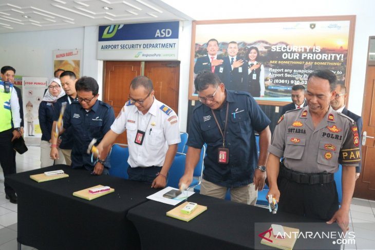 Bandara Ngurah Rai musnahkan barang sitaan