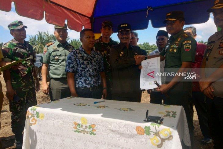 PT Mazuma Agro Indonesia hibahkan tanah kepada Angkatan Darat