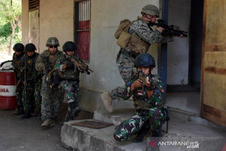 Marinir Indonesia dan Amerika latihan taktik tempur ODHB di Situbondo