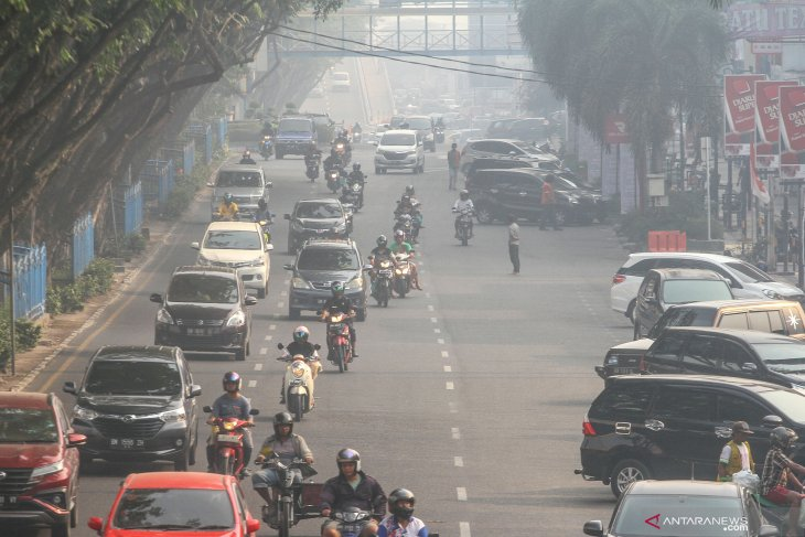 Smog from forest fires shrouds Riau, West & Central Kalimantan