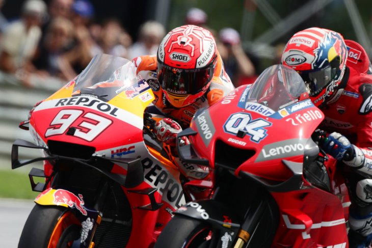 Andrea Dovizioso salip Marquez di tikungan terakhir untuk juarai GP Austria