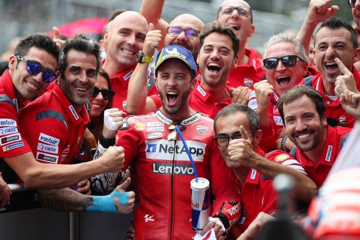 Dovizioso lanjutkan dominasi Ducati di Spielberg