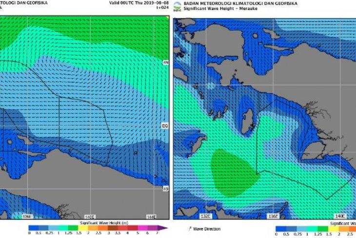 BMKG : Waspadai Angin kencang di perairan Papua Barat-Papua