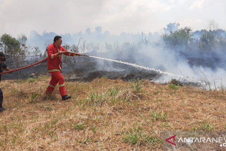 Lahan PPN Sungailiat terbakar (Video)