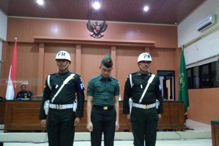 Oknum TNI terdakwa mutilasi di Sumsel dituntut penjara seumur hidup