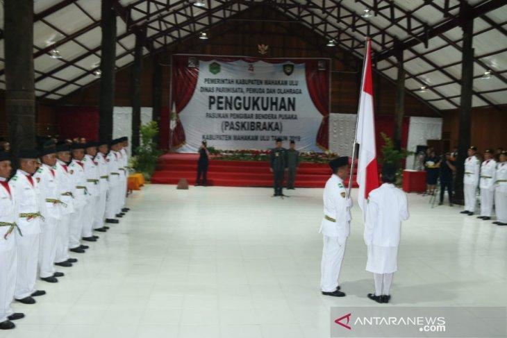Paskibraka Mahulu siap kibarkan bendera merah putih