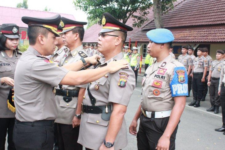 Kapolres Binjai pimpin serah terima jabatan pejabat utama Polres