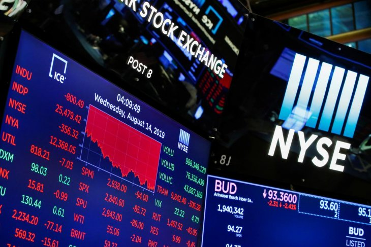 Wall Street berakhir beragam di tengah harapan penurunan suku bunga oleh FED