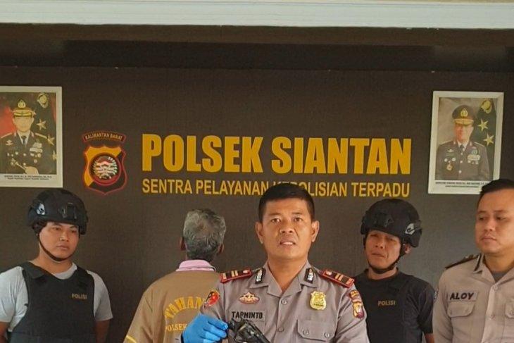 Polsek Siantan amankan seorang warga karena miliki senjata api rakitan