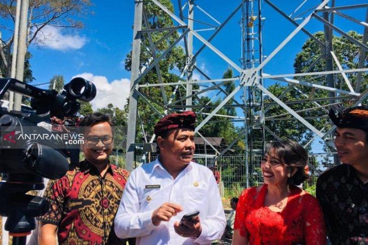 Bupati Bangli resmikan pembangunan menara telekomunikasi di Kintamani