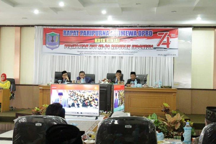 DPRD Kota Binjai gelar paripurna istimewa HUT Kemerdekaan