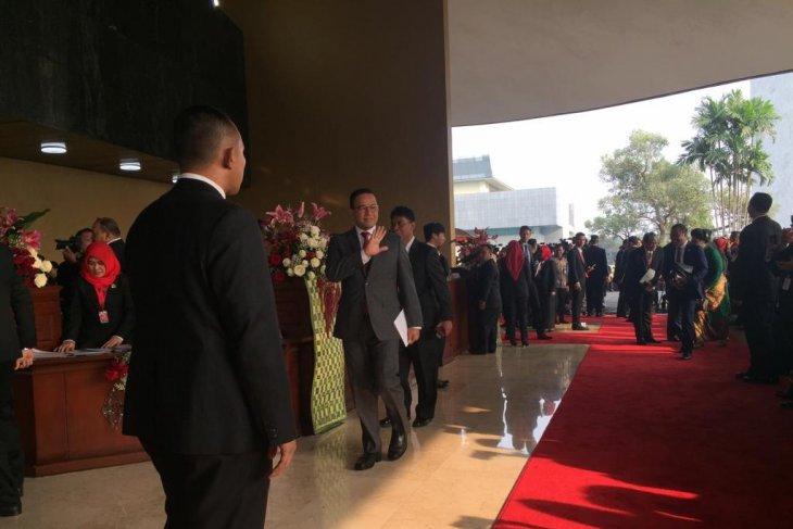 Pejabat Negara mulai berdatangan hadiri Sidang Tahunan MPR